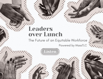 Text about Leaders over Lunch recording