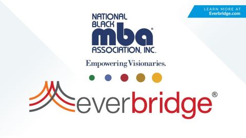 The National Black MBA Association® (NBMBAA®) logo is on top and the Everbridge logo is on the bottom.