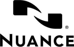 Logo of Nuance Communications: stylized N over the word Nuance