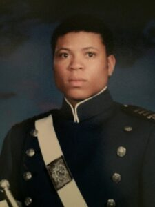 Headshot of Chevy Cleaves in Air Force cadet uniform as a young man