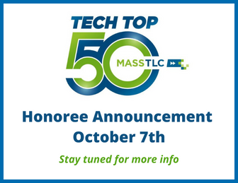 Text: Tech Top 50 honoree announcement October 7th. Stay tuned for more info