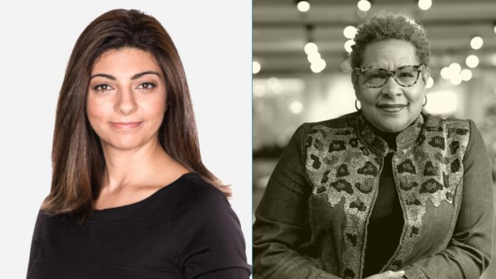 Headshots of Rana el Kaliouby and Stephanie Browne