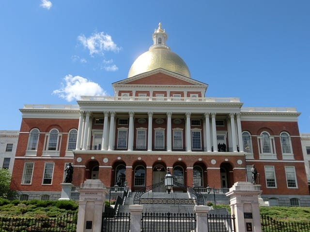 Massachusetts state house front view