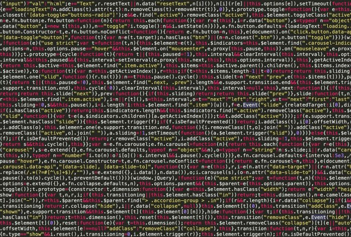 Lines of code on a black screen