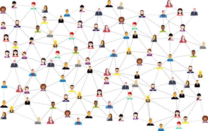 graphic of people interconnected